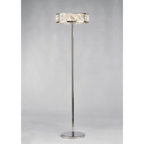 Diyas IL30177 Torre Crystal 5 Light Floor Lamp Polished Chrome Frame