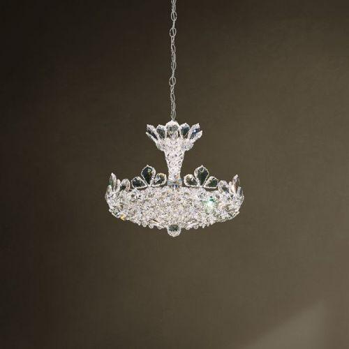 Schonbek 5853ES Trilliane 6Lt Swarovski Crystal Ceiling Pendant Silver