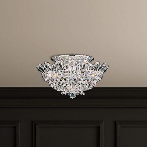 Schonbek Trilliane 8 Light Swarovski Crystal Flush Chandelier 5867ES
