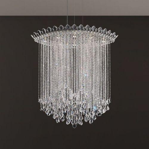 Schonbek Trilliane Strs 8 Light Pendant Fitting Stainless Steel Clear Heritage Crystal TR4813E-401H