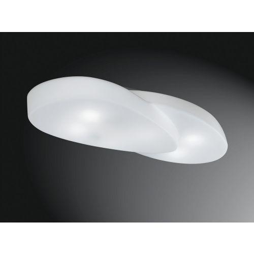 Mantra M1892 Ufo Flush Ceiling Fitting 6 Light Outdoor IP44 Matt White Opal White
