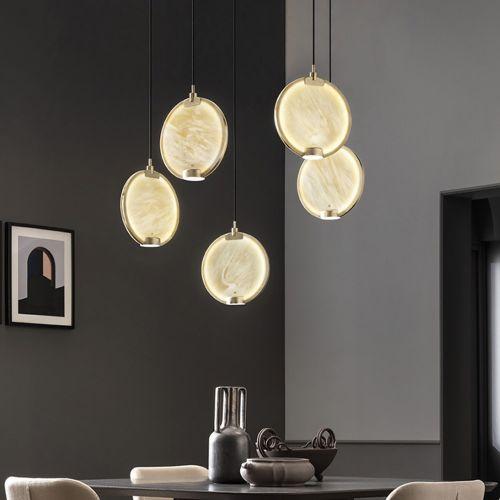 Masiero Horo 5 Light LED Hanging Glass Ceiling Pendant HORO-S5-SA