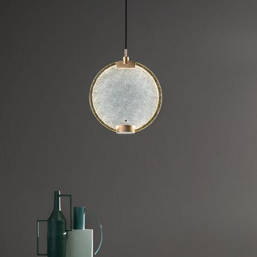 Masiero Horo 1 Light LED Hanging Glass Ceiling Pendant HORO-S1-TR