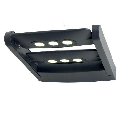 Elstead SIGMUND Sigmund 6Lt LED Graphite Grey IP65 Outdoor Wall Light