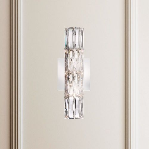 Schonbek Verve Swarovski Crystal 3 Light Wall Fitting Stainless Steel A9950NR700225
