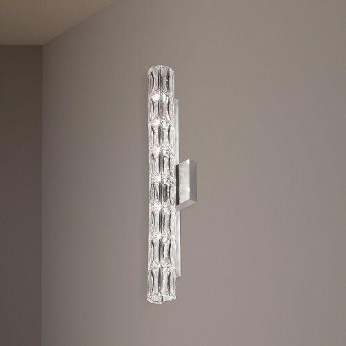 Schonbek Verve Swarovski Crystal 7 Light Wall Fitting Stainless Steel Frame A9950NR700214
