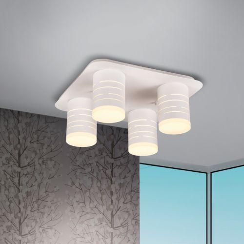 Schuller Vika 847492 LED 4 Light Flush Fitting Matt White Frame