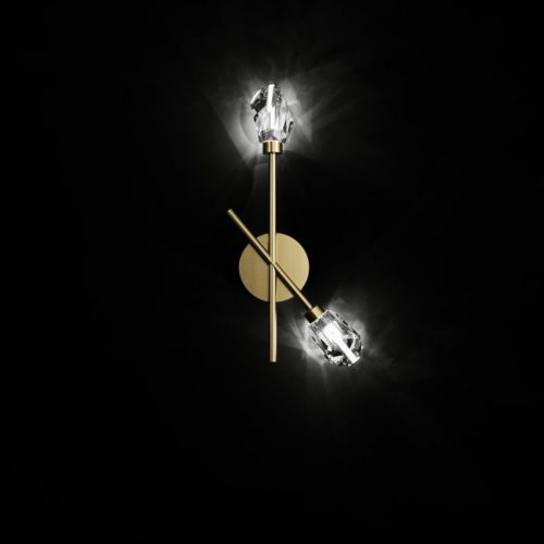 Swarovski Vibrant Bead Wall Lamp Brass Brushed SAP5529576