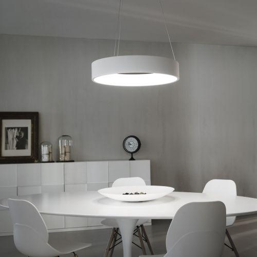 Ideal Lux 153124 Stadium LED Large Pendant White Frame