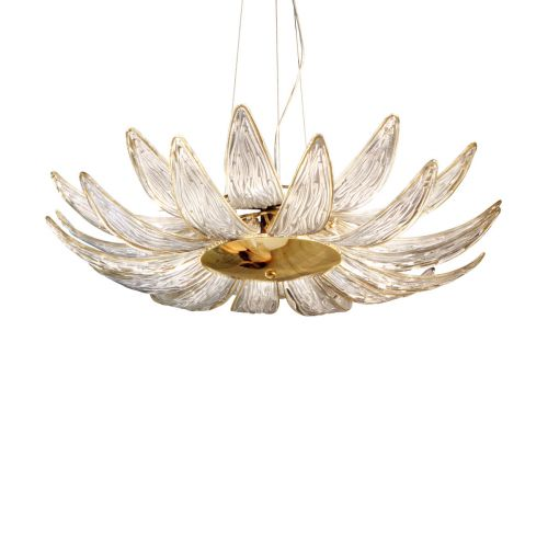 Kolarz 0375.36.3.TA Dalia 6 Light Pendant Gold Plated Frame