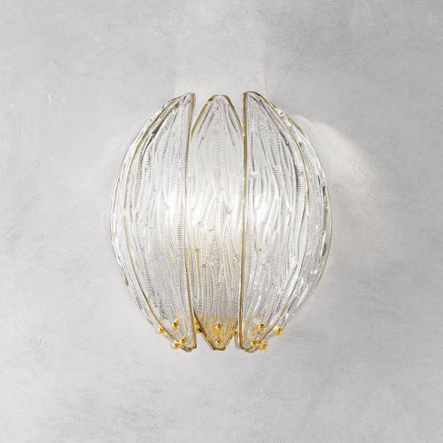 Kolarz 0375.62.3.TA Dalia 2 Light Wall Lamp Gold Plated Frame
