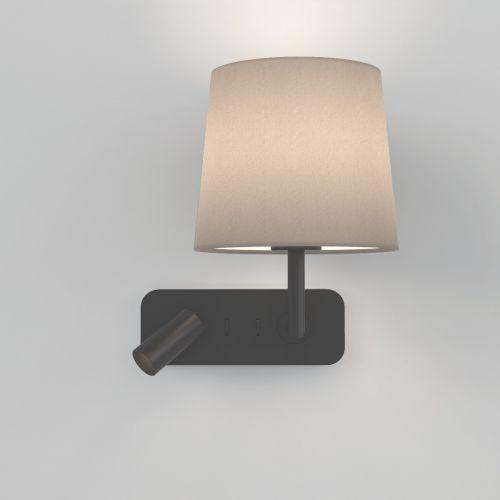 Astro 1406002 Side By Side LED Double Wall Light Matt Black Frame