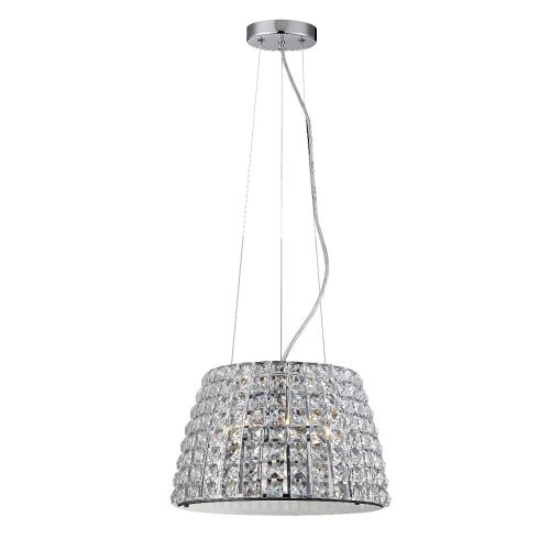 Marquis By Waterford Moy IP44 Crystal Pendant Polished Chrome WF-25240-CHR