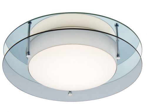 Bathroom Ceiling LED Light Fitting Smoked Mirror Lekki Bellamy LEK3031