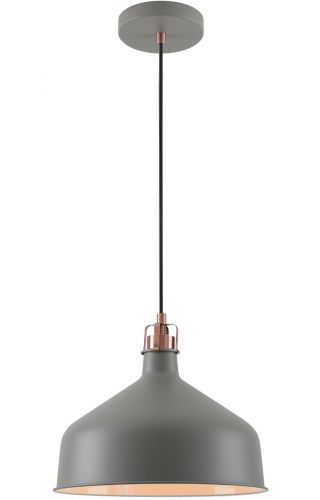 Ceiling Pendant Light Fitting Sand Grey Copper White Lekki Blake LEK3048