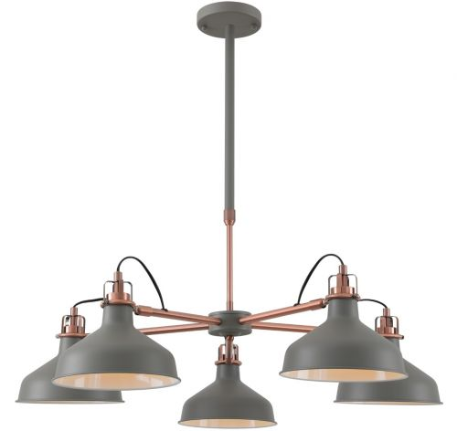 Multi-Arm Pendant Light Fitting Sand Grey Copper White Telescopic Lekki Blake LEK3050
