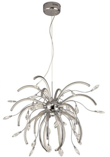 Large LED Pendant Light Fitting Chrome Lekki Chiara LEK3073