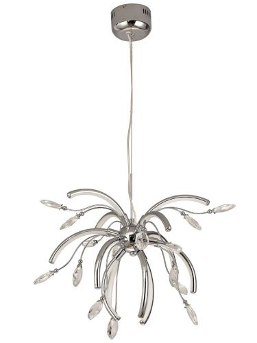 LED Ceiling Pendant Light Fitting Chrome Medium Lekki Chiara LEK3074