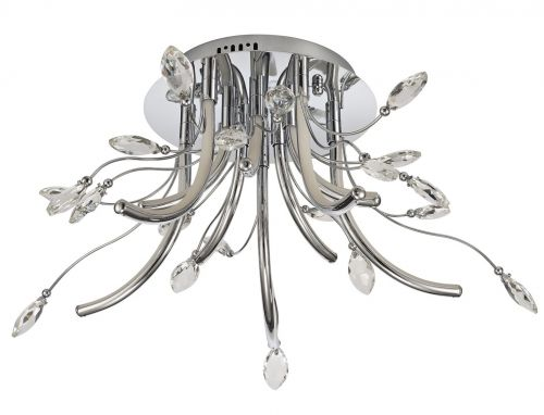 LED Ceiling Light Fitting Chrome Medium Lekki Chiara LEK3075