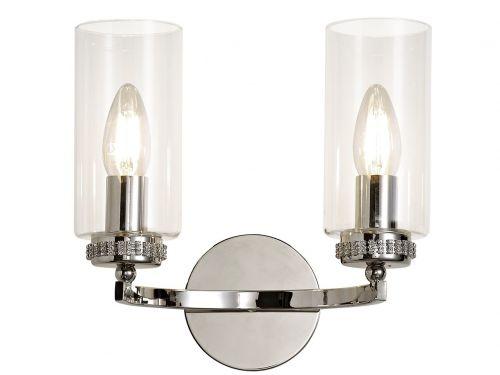 Switched Wall Lamp Nickel Lekki Dyani LEK3089