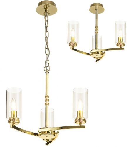 Semi Flush/Pendant Ceiling Light Fitting Gold Lekki Dyani LEK3090