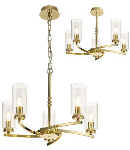 Semi Flush/ Pendant Ceiling Light Fitting Gold Lekki Dyani LEK3091