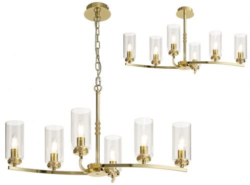 Semi Flush/Pendant Ceiling Light Fitting Gold Lekki Dyani LEK3092