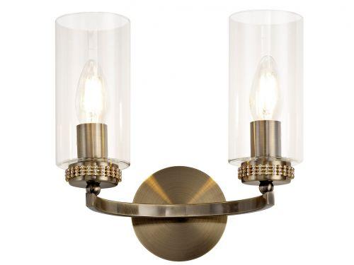 Switched Wall Lamp Antique Brass Lekki Dyani LEK3099