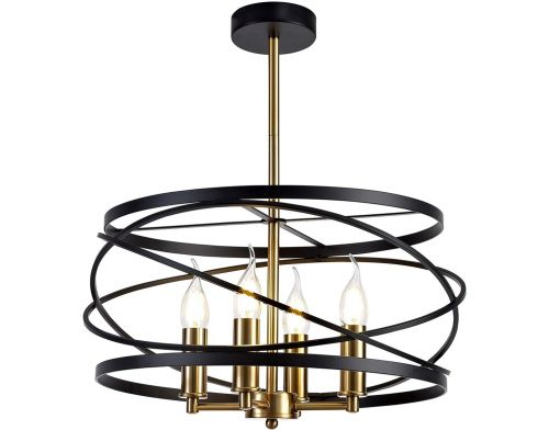 Ceiling Pendant Light Fitting  Black Satin Gold Lekki Luby LEK3155