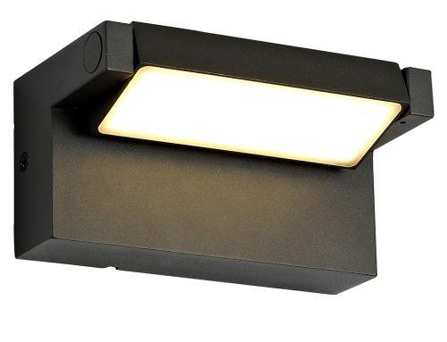 Outdoor LED Wall Lamp Graphite Black Lekki Lark LEK3157