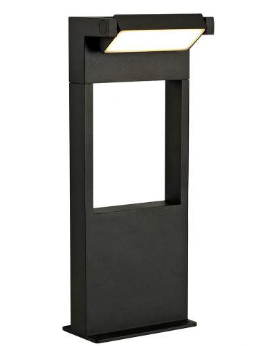 Outdoor LED Short Post Graphite Black Lekki Lark LEK3158