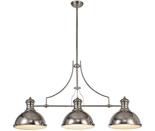 Bar Pendant Light Fitting Nickel Lekki Larson LEK3166