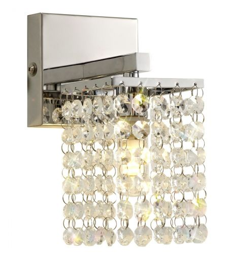 Bathroom Crystal Wall Lamp  Chrome Lekki Mistique LEK3192