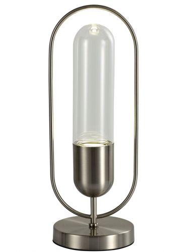 LED Table Lamp Satin Nickel Clear Lekki Nifty LEK3228