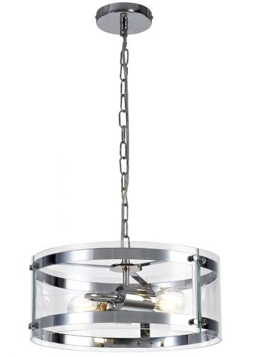Ceiling Pendant Light Fitting Chrome Lekki Perla LEK3246