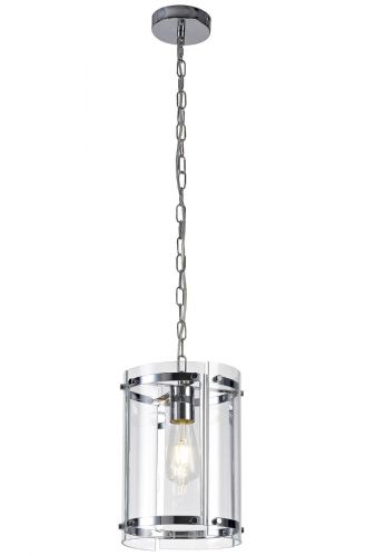 Ceiling Pendant 1 Light Fitting Chrome Lekki Perla LEK3248