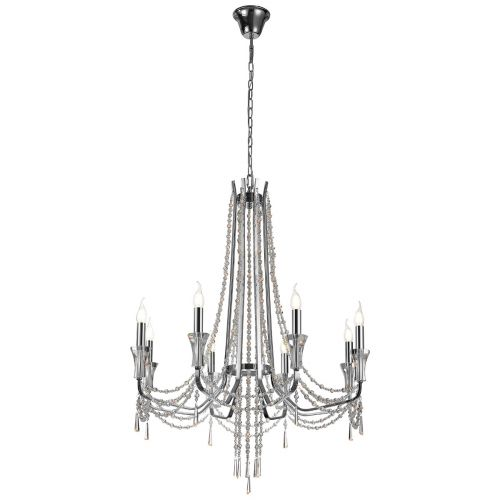 Diyas IL31744 Armand Crystal 8 Light Pendant Polished Chrome Frame