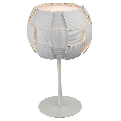 Impex PG504241/01/TL/WH Brigitte  1 Light Table Lamp White Frame