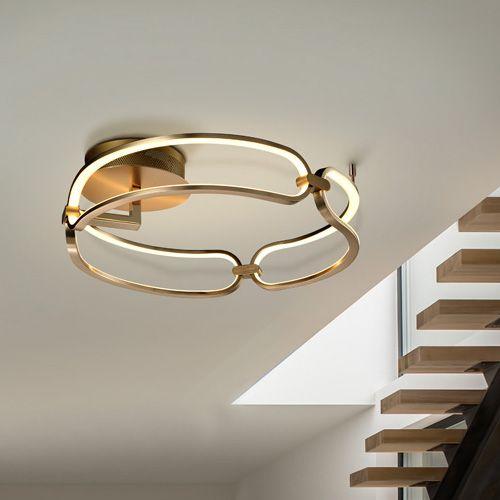 Schuller Colette 786430 LED Small Ceiling Flush Golden Frame