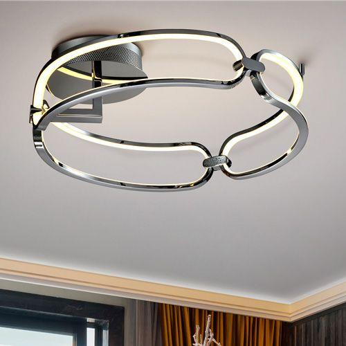 Schuller Colette 786485 LED Small Ceiling Flush Chrome Frame