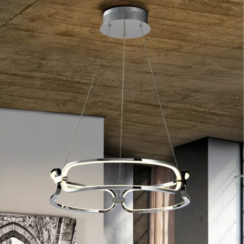 Schuller Colette 786645 LED Small Ceiling Pendant Chrome Frame