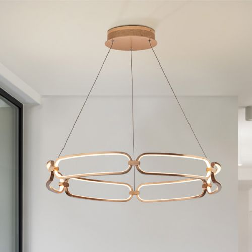Schuller Colette 786966 LED Large Ceiling Pendant Golden Frame
