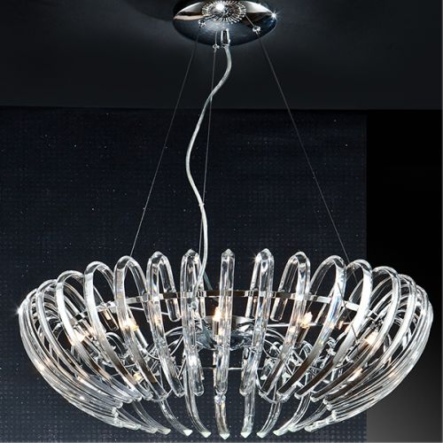 Schuller Ariadna 876113D Crystal 12 Light Ceiling Pendant Chrome Frame with Remote