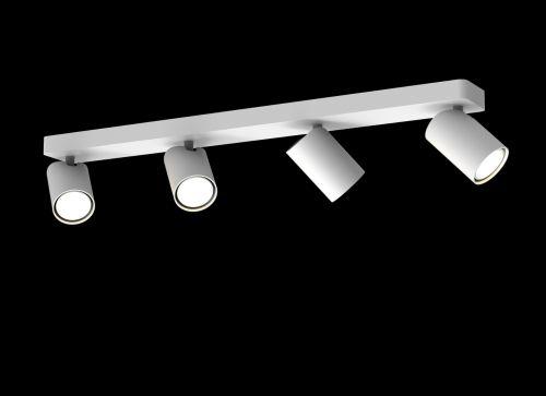 Mantra Sal Linear Bar 4 Light Spotlight GU10 Matt White M6280