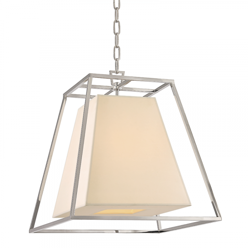 Ceiling Pendant Light Polished Nickel Hudson Valley Kyle 6917-PN-WS-CE