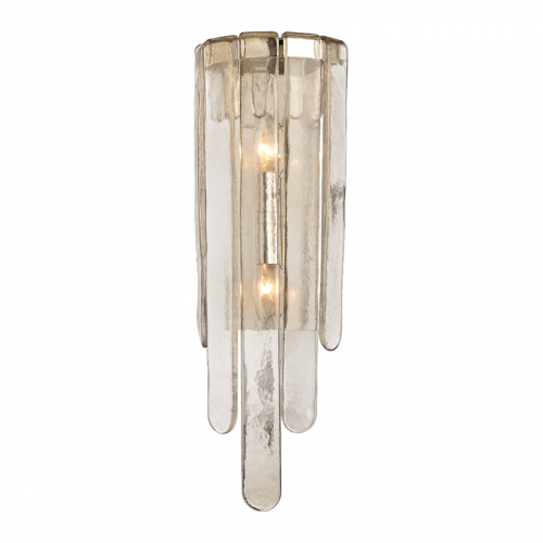 Glass Wall Light Polished Nickel Hudson Valley Fenwater 9410-PN-CE