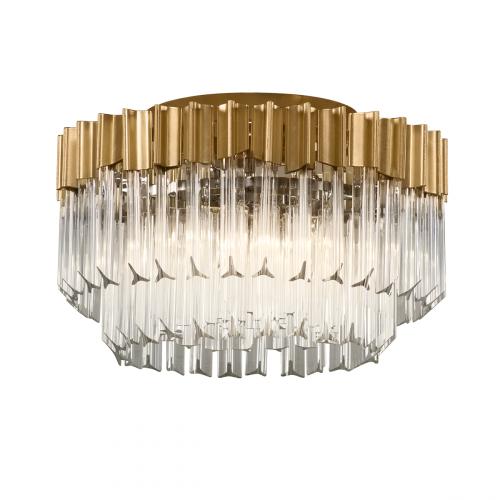 Semi-Flush Ceiling 3 Light Gold Leaf Corbett Charisma 220-33-CE