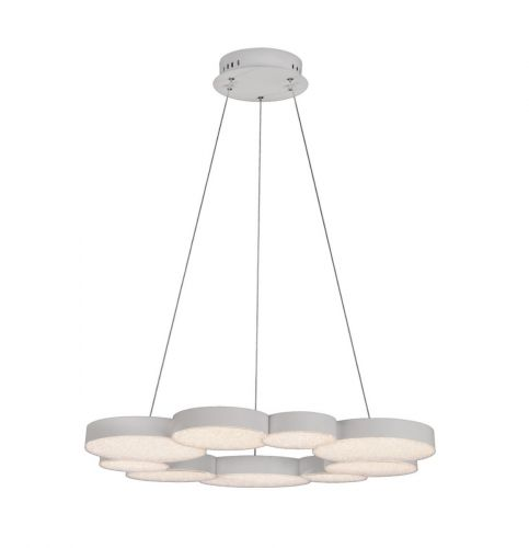 Mantra Lunas M5760 LED Crystal Extra Large Ceiling Pendant White Frame with Remote