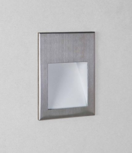 Astro 1212047 Borgo 90 LED Recessed Wall Light Brushed Stainless Steel Frame