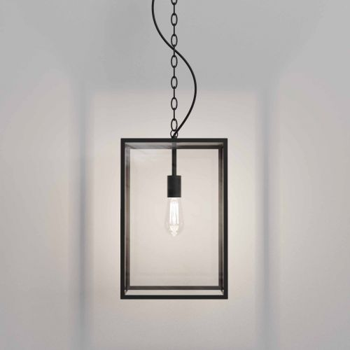 Astro Homefield 450 1095033 Outdoor Single Ceiling Pendant Textured Black Frame